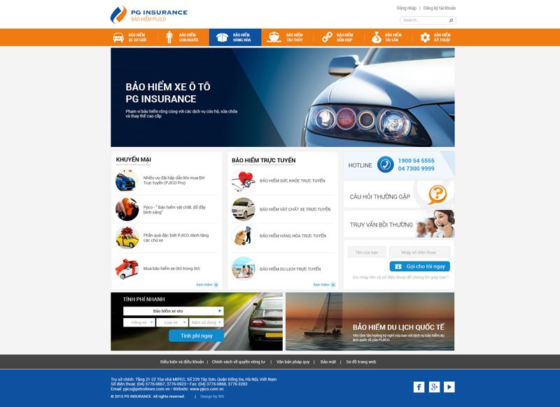 thiết kế website bán bảo hiểm trực tuyến