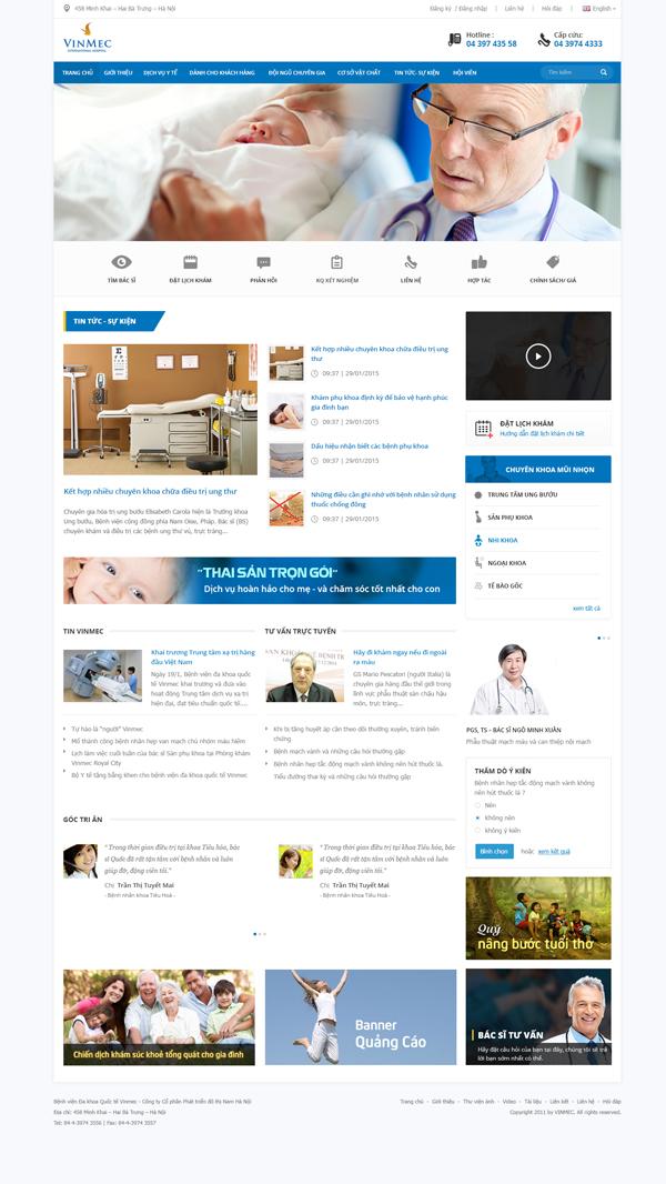 Thiết kế website bệnh viện VinMec