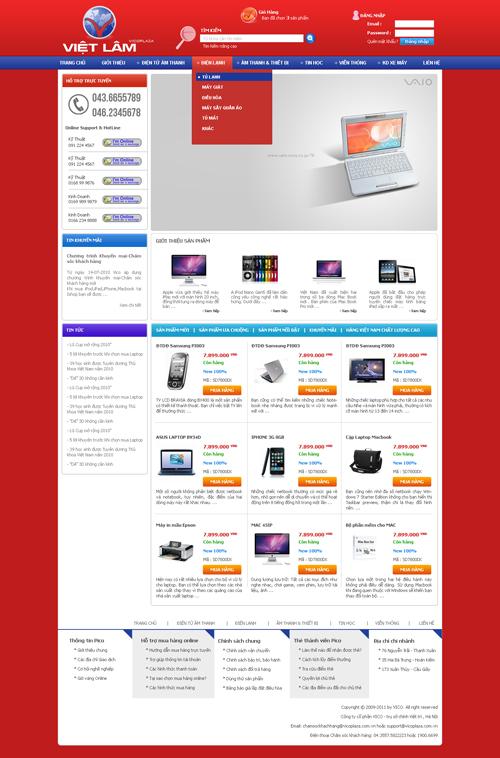 Thiết kế và triển khai hệ thống website bán hàng trực tuyến Siêu Thị Điện Máy Việt Lâm