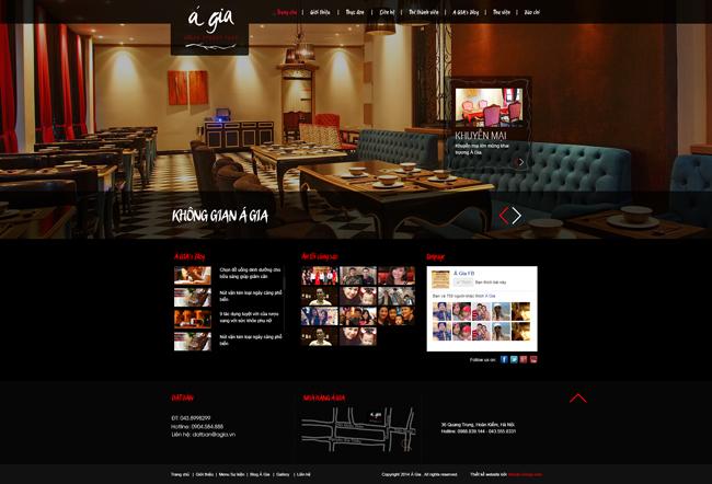 Thiết kế website giới thiệu nhà hàng Á Gia