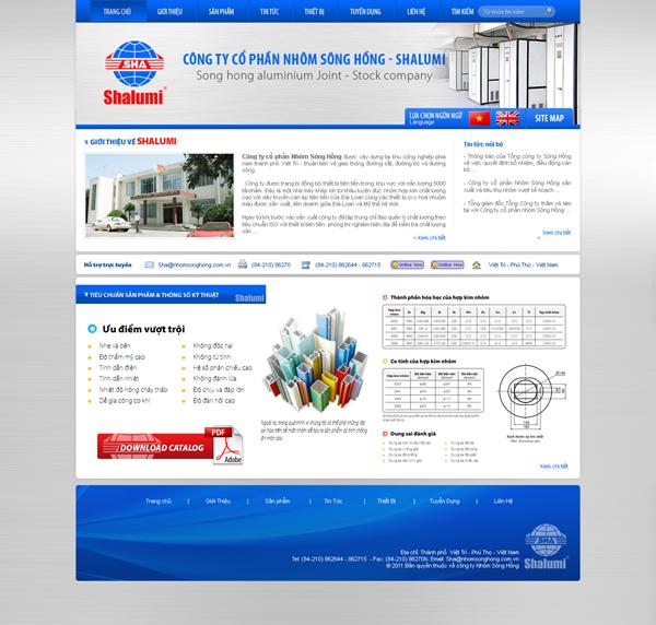Wecan Group hân hạnh được thiết kế và xây dựng website giới thiệu Nhôm Sông Hồng