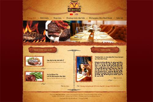 Chuyên thiết kế website nhà hàng Moo Beef Steak
