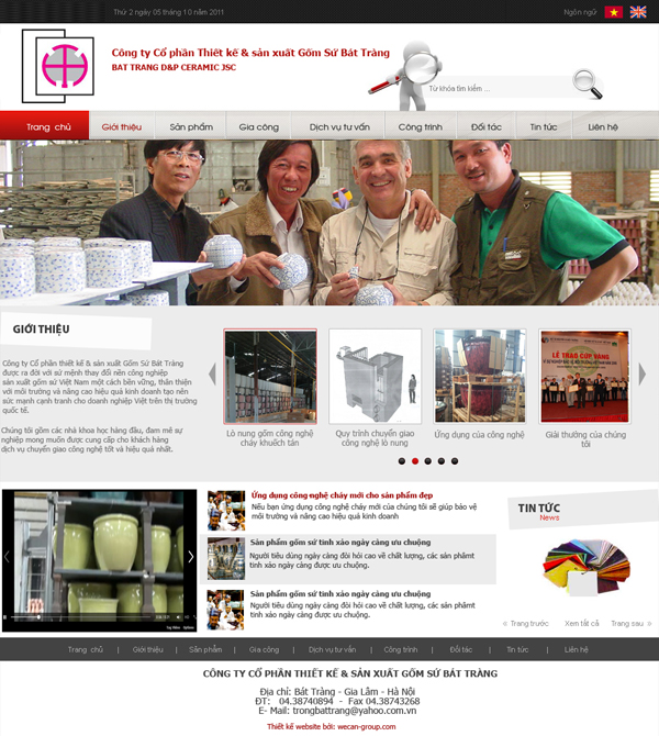 Thiết kế website gốm sứ bát tràng