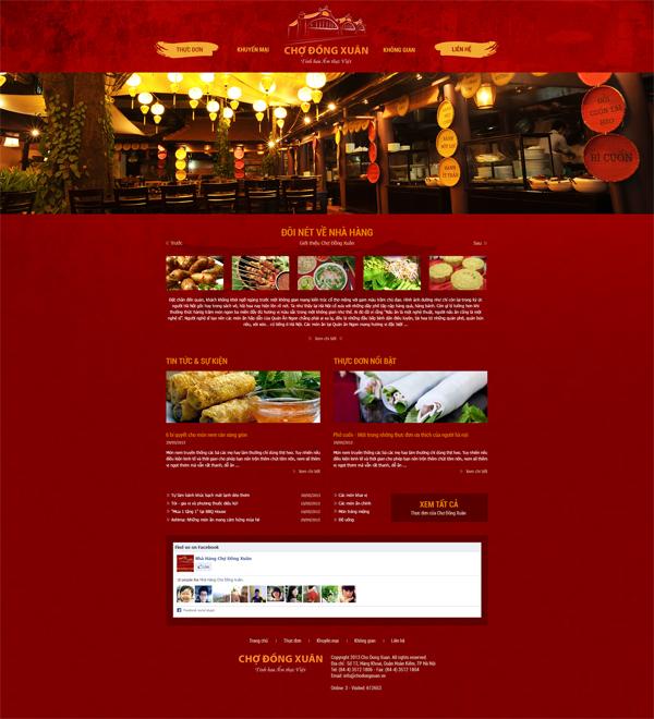 Thiết kế website nhà hàng Chợ Đồng Xuân