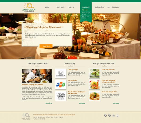 Thiết kế và xây dựng website Tiệc Anh Quân