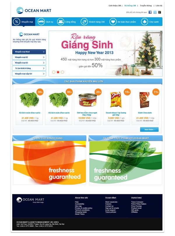 Thiết kế và xây dựng website siêu thị Ocean Mart